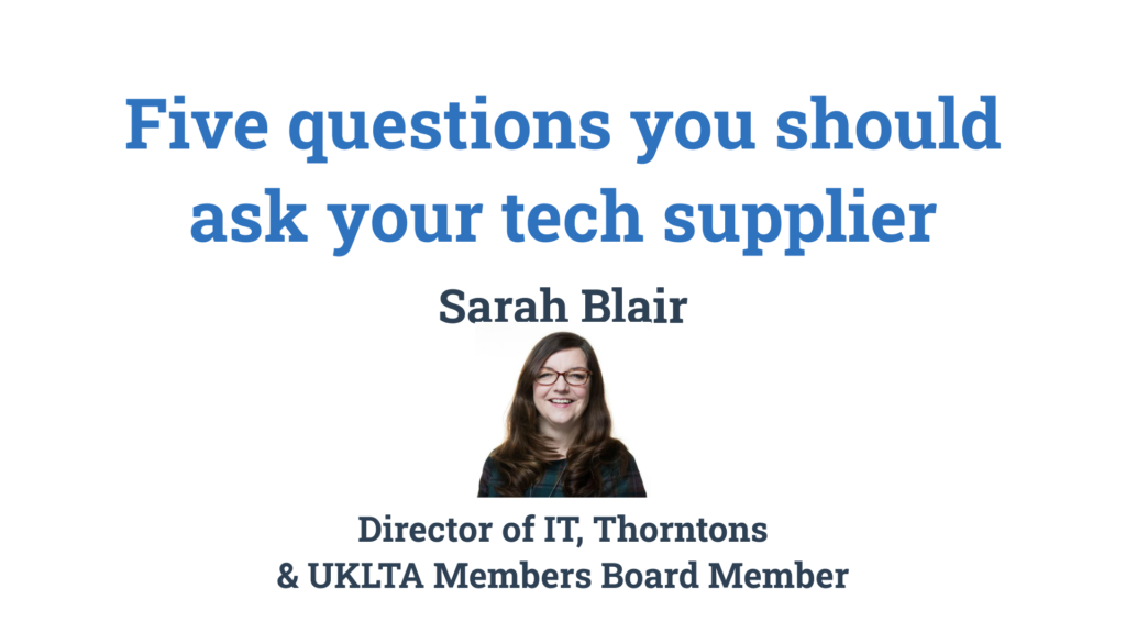 Five questions you should ask your tech supplier