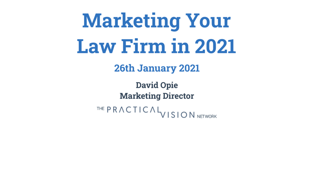Marketing Your Law Firm in 2021